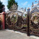 Ворота кованый